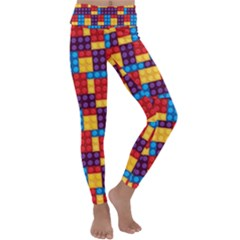 Lego Background Game Kids  Lightweight Velour Classic Yoga Leggings