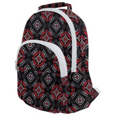 Pattern Star Rounded Multi Pocket Backpack