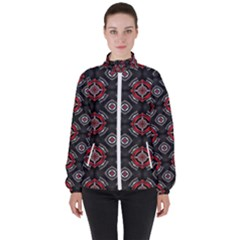 Pattern Star Women s High Neck Windbreaker by AnjaniArt