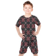 Pattern Star Kids  Tee And Shorts Set by AnjaniArt