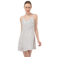 Binary Background Summer Time Chiffon Dress
