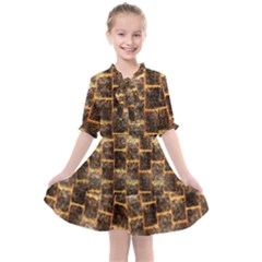 Wallpaper Iron Kids  All Frills Chiffon Dress by HermanTelo