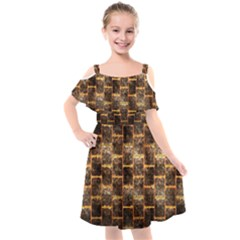 Wallpaper Iron Kids  Cut Out Shoulders Chiffon Dress by HermanTelo