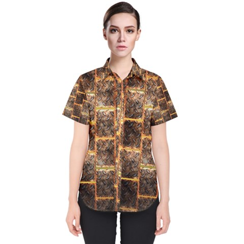 Wallpaper Iron Women s Short Sleeve Shirt by HermanTelo