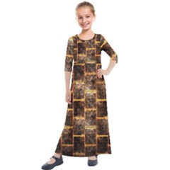 Wallpaper Iron Kids  Quarter Sleeve Maxi Dress
