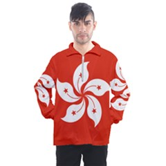 Flag Of Hong Kong Men s Half Zip Pullover by abbeyz71