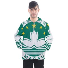 Emblem Of Macao Men s Half Zip Pullover by abbeyz71