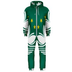 Flag Of Macao Hooded Jumpsuit (men)  by abbeyz71