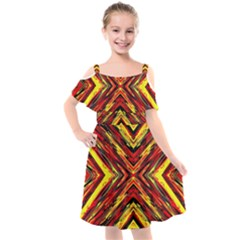 Ml C5 1 Kids  Cut Out Shoulders Chiffon Dress