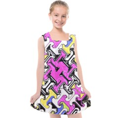 Justanotherabstractday Kids  Cross Back Dress by designsbyamerianna