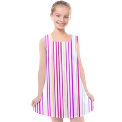 Brightstrips Kids  Cross Back Dress by designsbyamerianna