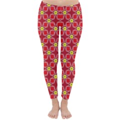 Red Yellow Pattern Design Classic Winter Leggings
