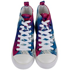Lines Curlicue Fantasy Women s Mid Top Canvas Sneakers