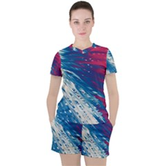 Lines Curlicue Fantasy Women s Tee And Shorts Set by AnjaniArt
