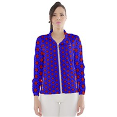 Blue Pattern Red Texture Women s Windbreaker by Mariart