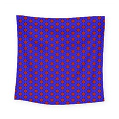 Blue Pattern Red Texture Square Tapestry (small) by Mariart