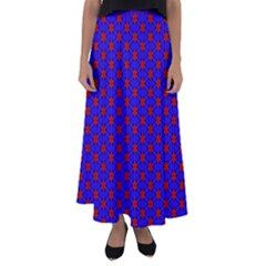 Blue Pattern Red Texture Flared Maxi Skirt by Mariart