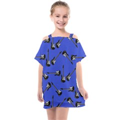 Guitar Instruments Music Rock Kids  One Piece Chiffon Dress