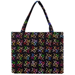Scissors Pattern Colorful Prismatic Mini Tote Bag by HermanTelo
