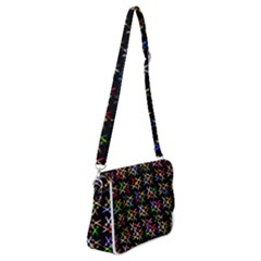 Scissors Pattern Colorful Prismatic Shoulder Bag With Back Zipper by HermanTelo