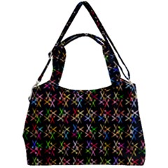 Scissors Pattern Colorful Prismatic Double Compartment Shoulder Bag by HermanTelo
