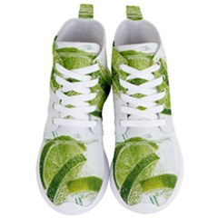 Lime Club Soda Drink Cocktail Women s Lightweight High Top Sneakers by Pakrebo