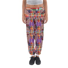 Decorated Colorful Bright Pattern Women s Jogger Sweatpants