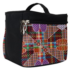 Decorated Colorful Bright Pattern Make Up Travel Bag (small)