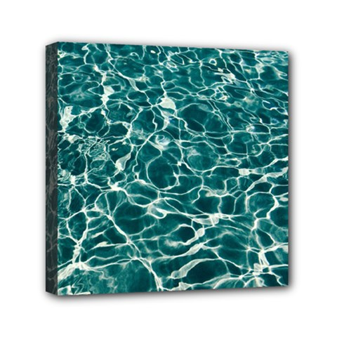 Pool Swimming Pool Water Blue Mini Canvas 6  X 6  (stretched) by Pakrebo