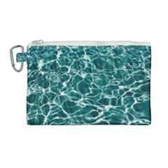 Pool Swimming Pool Water Blue Canvas Cosmetic Bag (large) by Pakrebo
