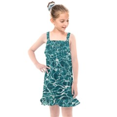 Pool Swimming Pool Water Blue Kids  Overall Dress