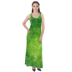 Pagan Mandala Seamless Tileable Green Sleeveless Velour Maxi Dress