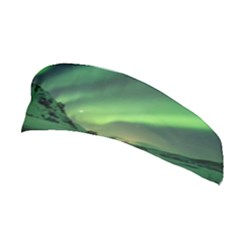 Snow Winter White Cold Weather Green Aurora Stretchable Headband