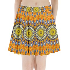 Fractal Kaleidoscope Mandala Pleated Mini Skirt