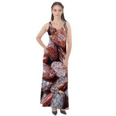 Dates Fruit Sweet Dry Food Sleeveless Velour Maxi Dress
