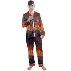 Switzerland Zermatt Mountains Snow Men s Satin Pajamas Long Pants Set