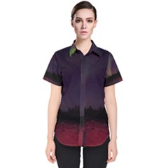 Beautiful Aurora Women s Short Sleeve Shirt