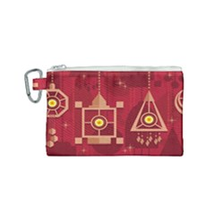 Background Objects Stylized Canvas Cosmetic Bag (small)