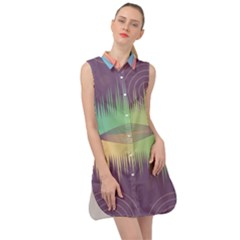 Background Abstract Non Seamless Sleeveless Shirt Dress