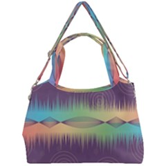 Background Abstract Non Seamless Double Compartment Shoulder Bag