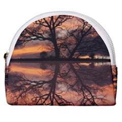 Aurora Sunset Sun Landscape Horseshoe Style Canvas Pouch