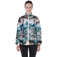 Water Forest Reflections Reflection Women s High Neck Windbreaker