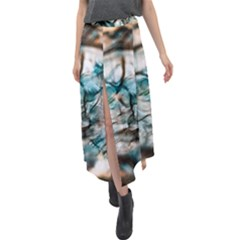 Water Forest Reflections Reflection Velour Split Maxi Skirt