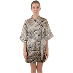 Structure Reference Material Rain Quarter Sleeve Kimono Robe