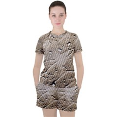 Structure Reference Material Rain Women s Tee And Shorts Set