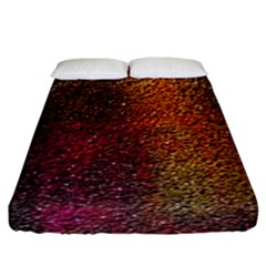 Colors Exploding Paint Spray Fitted Sheet (king Size)