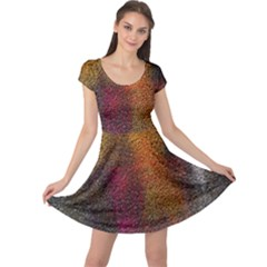Colors Exploding Paint Spray Cap Sleeve Dress