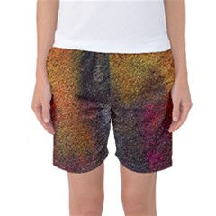 Colors Exploding Paint Spray Women s Basketball Shorts by Pakrebo