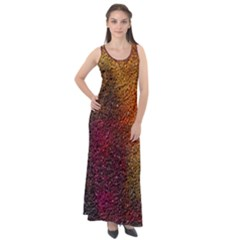 Colors Exploding Paint Spray Sleeveless Velour Maxi Dress