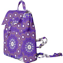 Mandala Abstract Design Pattern Blue Buckle Everyday Backpack